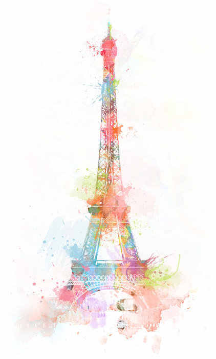 drawing, eiffel tower, france, illustration, paris