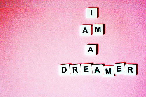dream, dreamer, pink, quote, text