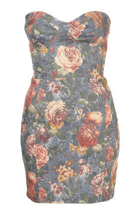 dress, fashion, figure, floral, floral dress