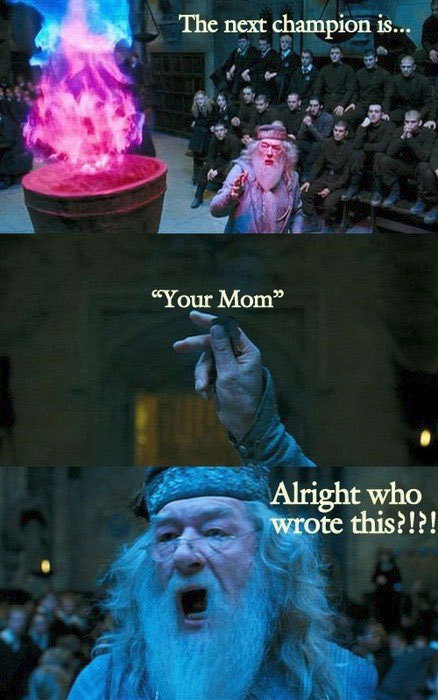dumbledore, funny, goblet of fire, harry potter