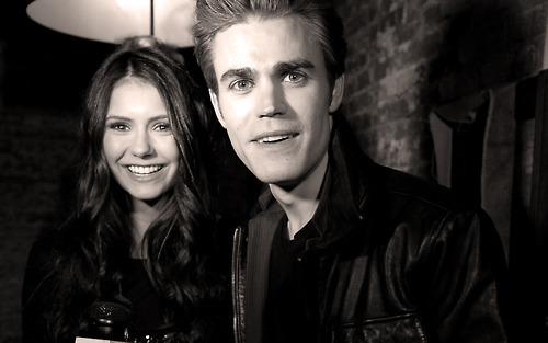 elena gilbert, nina dobrev, paul wesley, stefan salvatore, the vampire diaries