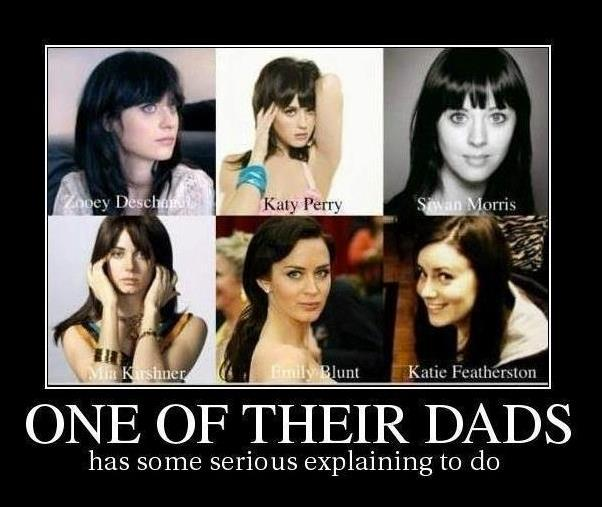 emily blunt, funny, katie featherston, katy perry, lookalikes, lool, mia kirshner, mistake, tenso, zooey deschanel