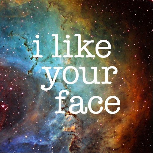face, love, quote, space, stars