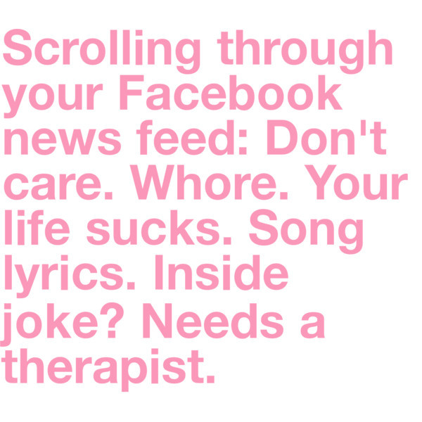facebook, life, truth, words