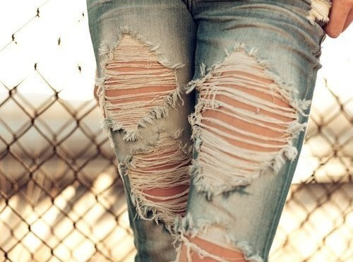 fashion, jeans, ripped