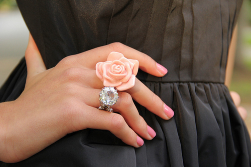 fashion, napil polish, photoraphy, rings, rose