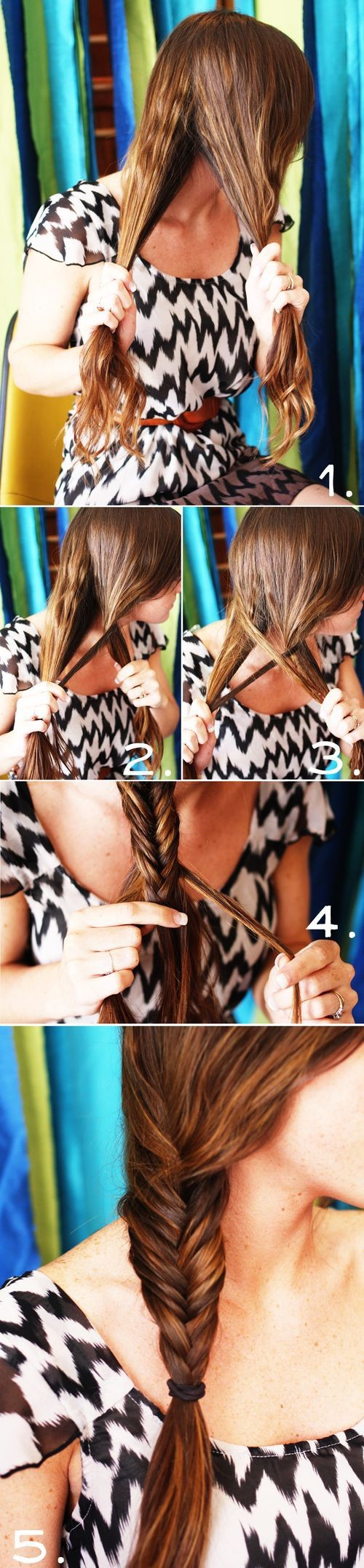 fishtail, hair, how to, tutorial