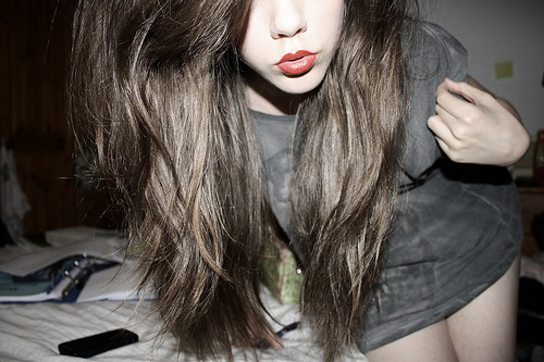 full lips, girl, hair, lips, red lips