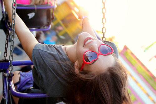 fun, girl, sunglasses