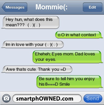 Funny message smartphowned text
