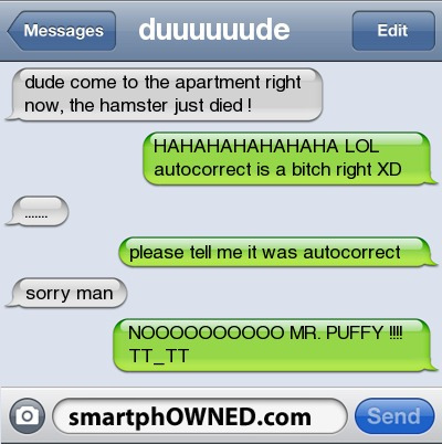 funny, message, smartphowned, text