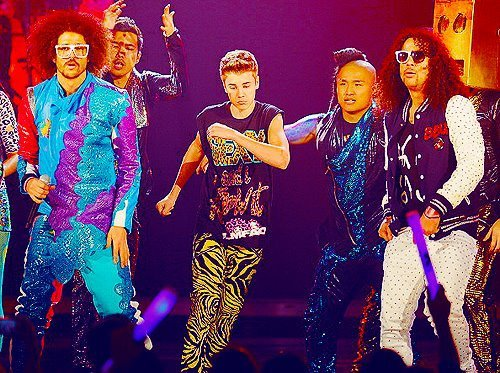 go bieber, justin bieber, lmfao, party rock, sad face