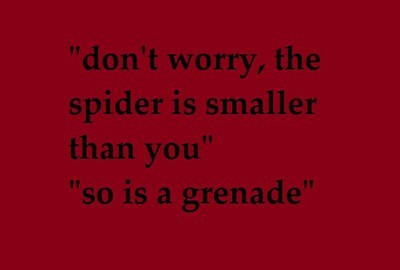 grenade, malingran, spider, text, true