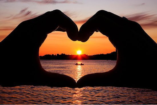 heart, love, photography, sea, sun