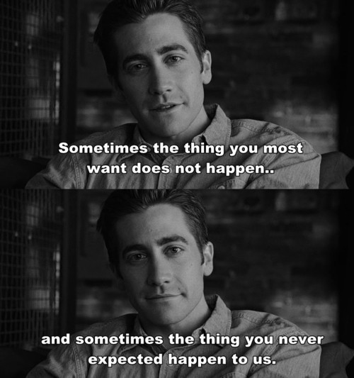 jake gyllenhaal, love and other drugs, move, sometimes, text