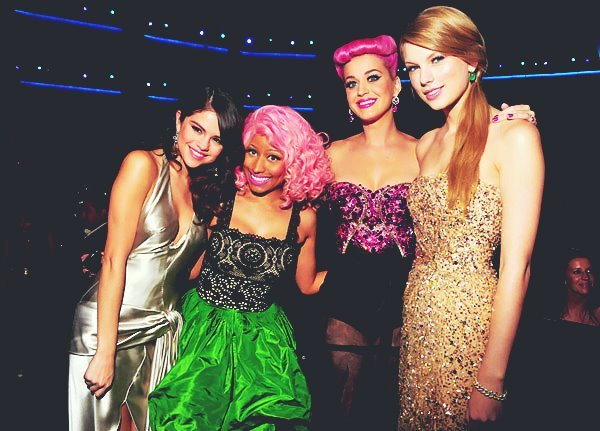 katy perry, nicki minaj, selena gomes!!!, selena gomez, taylor swift