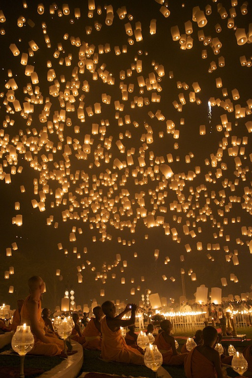 lamps, light, lights, monks, neautiful