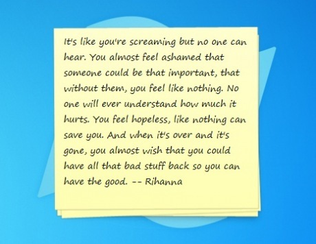 love, post it, quote, rihanna, talk that talk