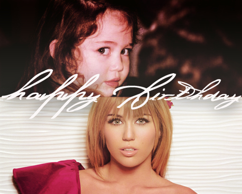 19 birthday, happy birthday, miley cyrus