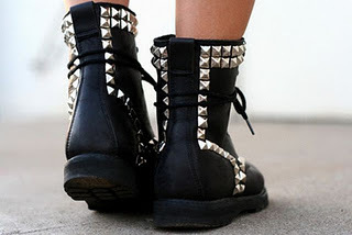 accessories, ankle, bare, black, boot, boots, colour, dull, fashion, friday, girl, hot, laces, laque, leather, legs, martens, melk, plateau, shiny, shoe, shoes, silver, sitting, soles, studs, style, tough, trend
