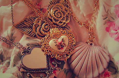accessories, gold, heart, jewellery, love