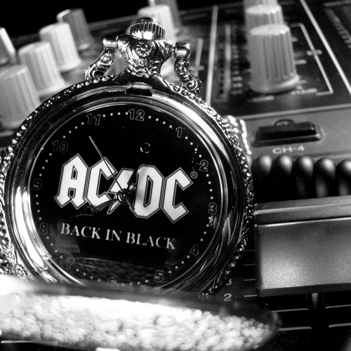 Back In Black Ac Dc: Ac,dc, Back In Black, Black And White, Photography