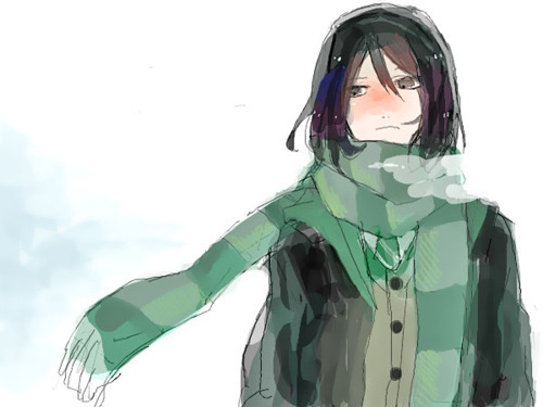 adorable, amazing, anime, art, beautiful, cold, cute, draw, eyes, fashion, female, girl, green, hair, illustration, image, kawaii, perfect, pretty, style, winter