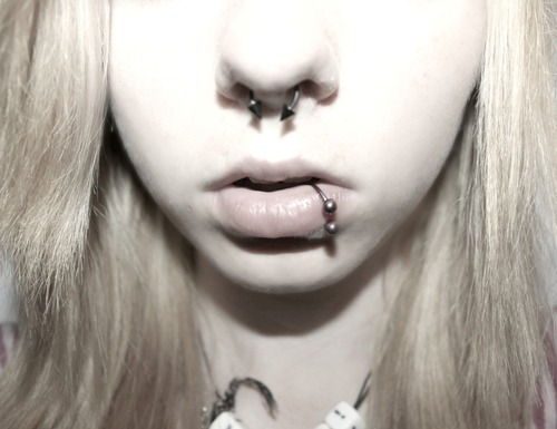 adorable, amazing, beautiful, blonde, cute, dye hair, fashion, hair, image, lip piercing, lips, nose piercing, perfect, photo, photography, piercing, septo, septum, style