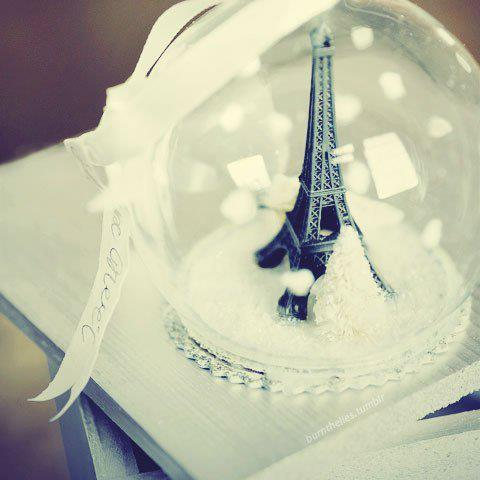 adorable, awesome, beautiful, bow, classy, cute, eiffel tower, fabulous, fashion, glass ball, lovely, nice, paris, style, white, wonderful