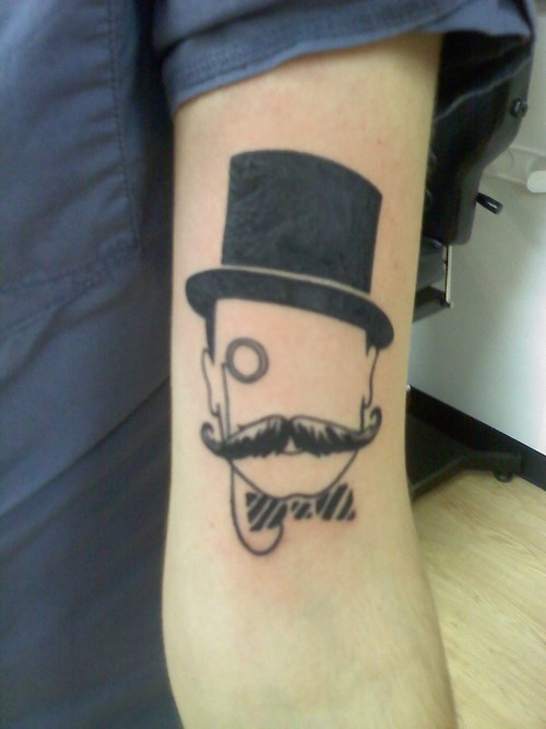 adorable, criative, cute, mustache, random, tattoo