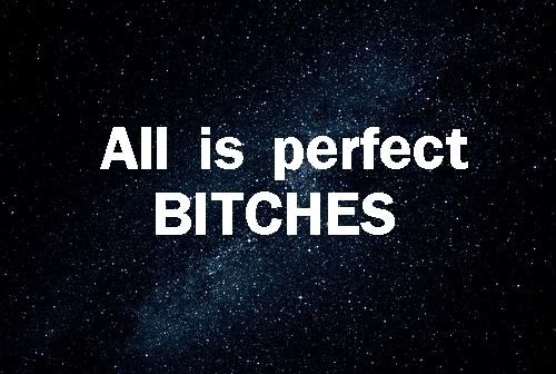 all is perfect, all is perfect bitches, bitches, galaxy, text