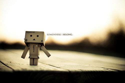 alone, danbo, place, somewhere, you