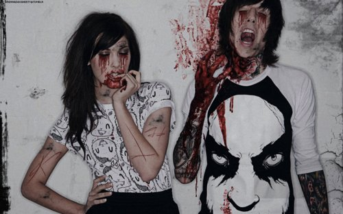 alternative, alternative couple, amanda hendrick, blood, bmth