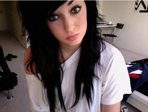alternative, alternative girl, black hair, eyeliner, girl, long hair, makeup, piercing