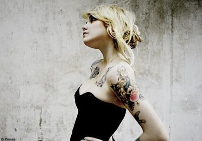 alternative, alternative girl, blonde, blonde hair, tattoo, tattoos