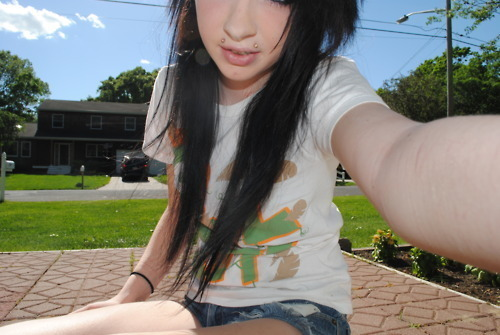 alternative, black hair, cute girl, emo, emo girl