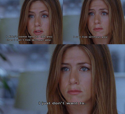 amazing, beautiful, cute, film, jennifer aniston, love, movie, quote, romance, text