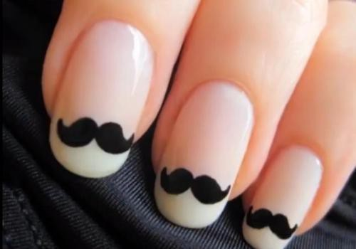 amazing, black, cute, fashion, mustache, nails, nice, sweet, want, white
