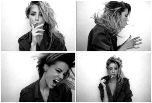 amber heard, black and white, edit, girl, model, photo, photography, unhealthy