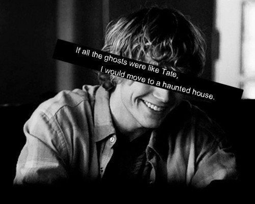 american horror story, boy, evan peters, ghost, haunted, haunted house, hot, house, quote, tag, tate langdon, tv series, wirte, words