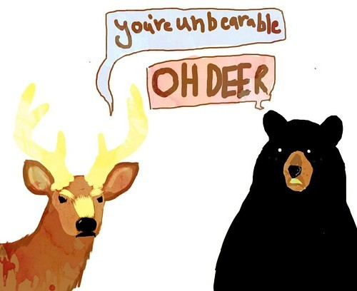animal, cartoon, cute, deer, haha