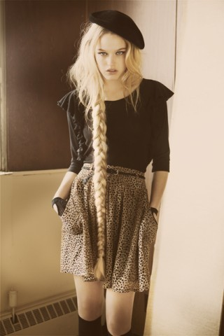 animal print, blond, dress, fashion, girl