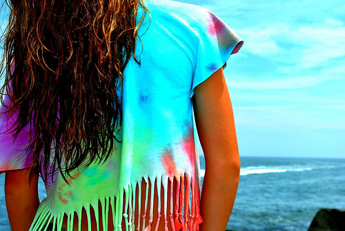art, beach, beautiful, black, blue, clouds, colorful, cut, cute, fashion, girl, hair, hot, love, ocean, photo, photography, pretty, rainbow, sexy, shirt, style, tye dye, tyedye, vintage, water, waves, white