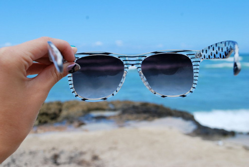 art, beach, beautiful, black, blue, clear, cool, cute, fashion, girl, glasses, hot, love, photo, photography, pretty, sand, sexy, sky, stripes, style, sunglasses, vintage, water, white