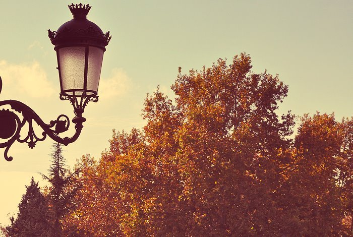 autumn, lamp, madrid, orange, retro