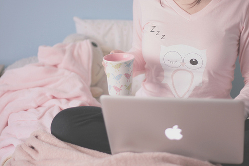 awesome, beautiful, bed, cloth, cup, cute, floral, glass, mac, owl, pastel, pillow, pretty, stuff, technology, vintage, white