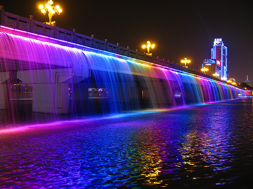 awesome, color, foto, lights, love, night, photography, seoul, water