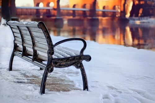 awsome, banco, bench, bridge, cool, foto, invierno, lucy, nice, nieve, photo, photography, puente, reflection, reflejo, river, separate with coma, snow, sol, sun, usa, water, winter