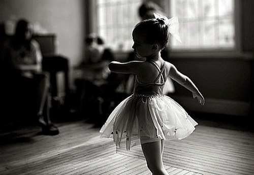 baby, ballet, black and white, cute, dance - image #288390 ...