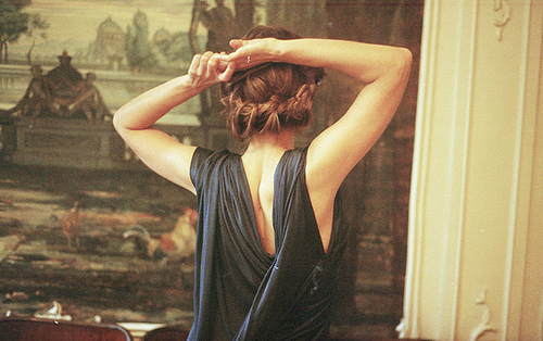 back, couture, dress, evening dress, fashion, gown, hair, style